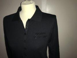 Henry Cottons langarm Poloshirt Polo Shirt 46 schwarz ungetragen