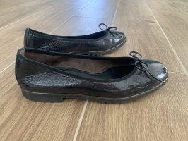 Paul Green Ballerines en cuir verni gris anthracite
