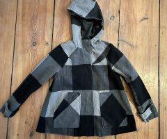 Foster Manteau à capuche noir-gris