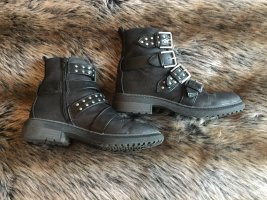 Short Boots black-grey