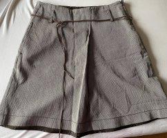 Zero Spódnica midi brązowy-jasnobeżowy
