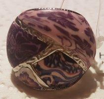 Anillo de cuentas rosa claro-púrpura