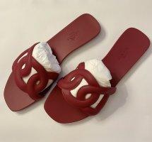 Hermès Sandały outdoor ciemnoczerwony