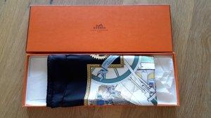Hermès Bufanda de seda multicolor Seda
