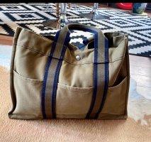 Hermès Fourre Tout Bag aus Baumwolle in Grün