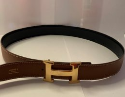 Hermès Reversible Belt black-brown leather