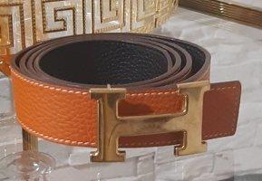 Hermès Ceinture en cuir orange