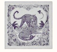 Hermès Cashmere Scarf light grey-grey violet