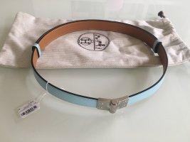 Hermès Leather Belt turquoise-light brown