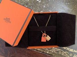 Hermès Necklace orange-gold-colored
