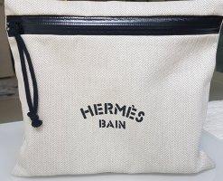 Hermès Makeup Bag black-natural white