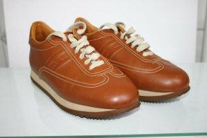 Hermes Quicker Sneakers Leder Cognac wie neu 39