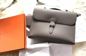 Hermès Briefcase grey leather