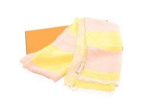 Hermès Knitted Scarf yellow silk