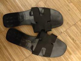 Romeinse sandalen zwart