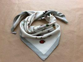 Hermès Jedwabny szal w kolorze białej wełny Jedwab