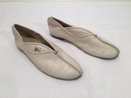 Hermés Slipper aus cremefarbenem Leder - Vintage - Gr.37