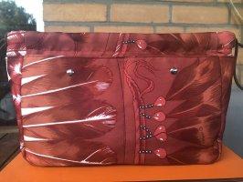 Hermès Torebka materiałowa czerwony-brązowy Jedwab