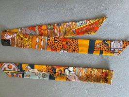 Hermès Zijden doek oranje-leigrijs