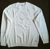 C&A Sweter z dzianiny w kolorze białej wełny Bawełna