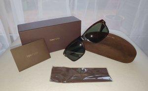 Tom Ford Gafas de sol cuadradas marrón oscuro acetato