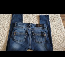 Herrlicher Spodnie rurki niebieski-ciemnoniebieski
