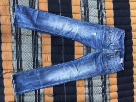 Herrlicher Jeans a gamba dritta azzurro