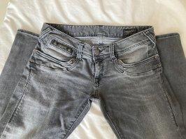 Herrlicher Dopasowane jeansy szary