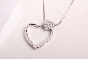 Herzkette 925 Sterling Silber