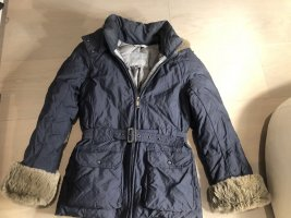 HETREGO Pelt Jacket steel blue mixture fibre