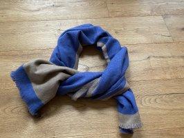 Écharpe en cachemire bleu-marron clair cachemire