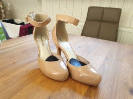 High heel Lackpumps von Tamaris beige Gr. 38