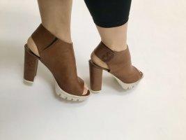 High heel / peep toe / Absatz Schuhe / echt Leder / Sommer Stiefelletten 41
