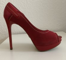 Jorge Bischoff Peep Toe Pumps red