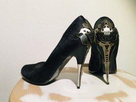Jumex Tacones altos gris antracita-negro