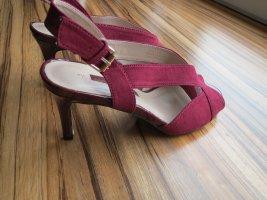 High Heel Sandalen, Gr.37, bordeaux