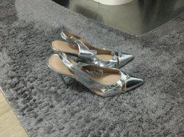 high heel Silber neu slingback neu