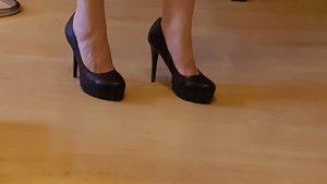 High Heel Stiletto 13 cm Plateau-Pumps Gr. 40 - schwarz