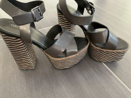 Catwalk Peep Toe Pumps bronze-colored-grey brown