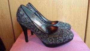 Jumex High Heels silver-colored