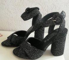High heels 9cm schwarz mit Glitzer Gr. 36