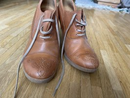 High Heels aus Leder Größe 38 cognac
