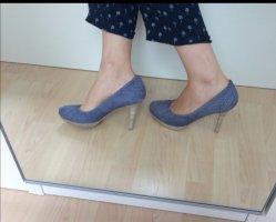 High Heels blau grau 38 YKX & co.