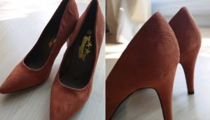 High Heels Cognac-Farbe