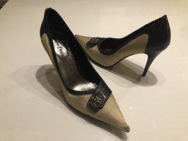 High-Heels gold schwarz
