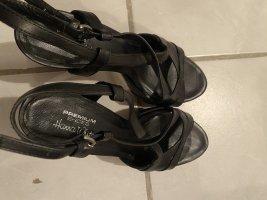 High Heels Leder schwarz