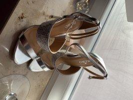 High heels neu Silber
