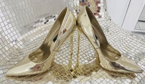High Heels Pumps Gold metallic 37 Cinderella Schuh