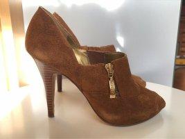 High Heels / Pumps / Peep Toes Guess 36 Velours Velours Leder hellbraun