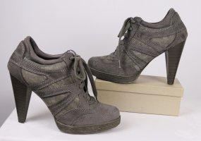 High Heels Sneaker Graceland Größe 40 Schuhe Grau Schnürschuhe Hochfront Pumps